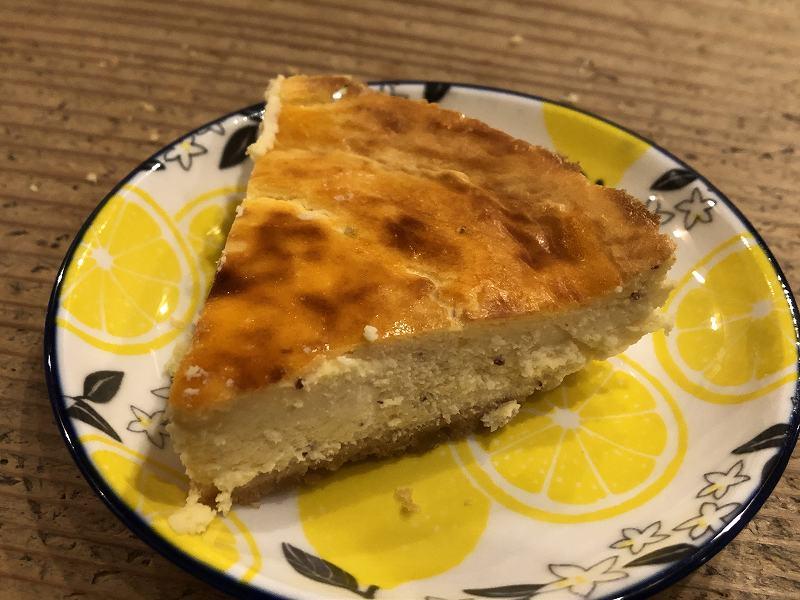 糖質63%オフ!手作りチーズケーキの店エニシダの低糖質なさつま芋チーズケーキの見た目